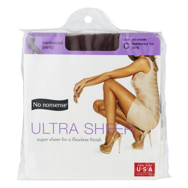 No nonsense Reinforced Panty Ultra Sheer Size C Jet Brown