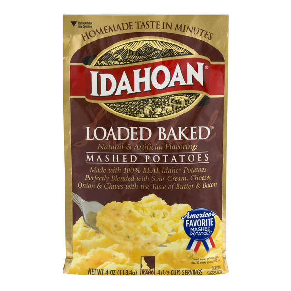 Idahoan Mashed Potatoes Loaded Baked Flavored