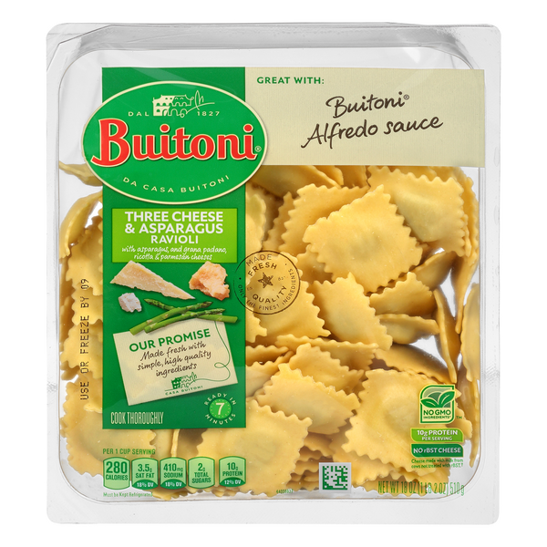 Buitoni Pasta Ravioli Three Cheese Asparagus All Natural Fresh