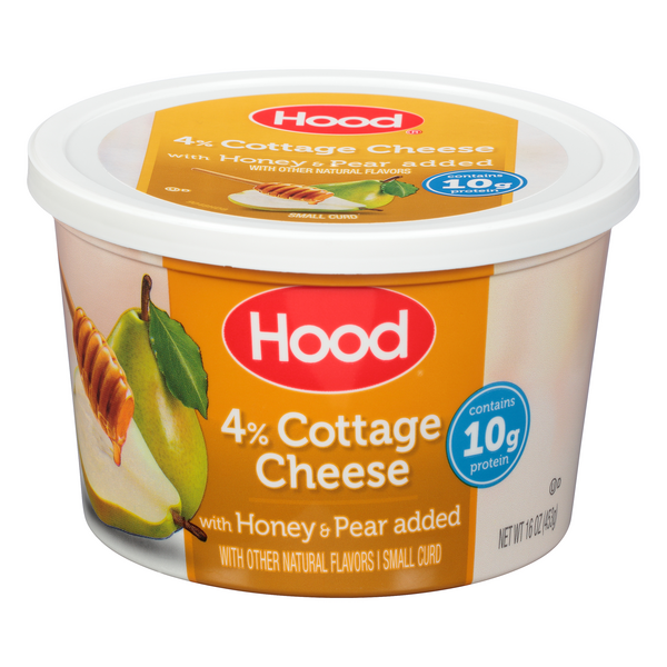Hood 4% Cottage Cheese With Honey & Pear added