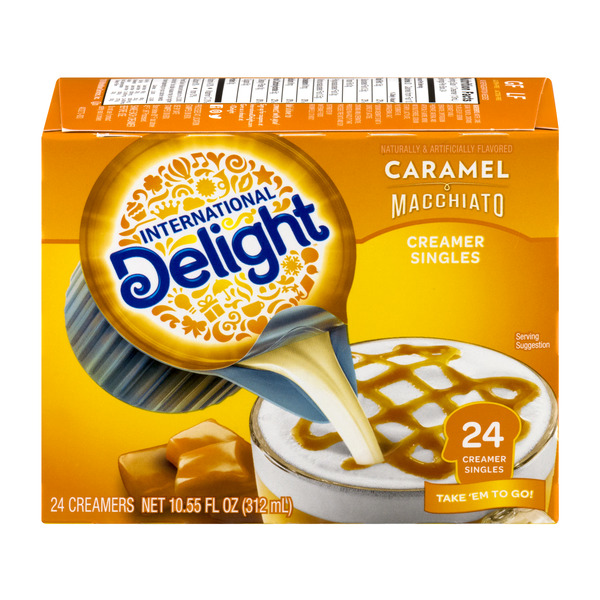 International Delight Coffee Creamer Caramel Macchiato Singles - 24 ct