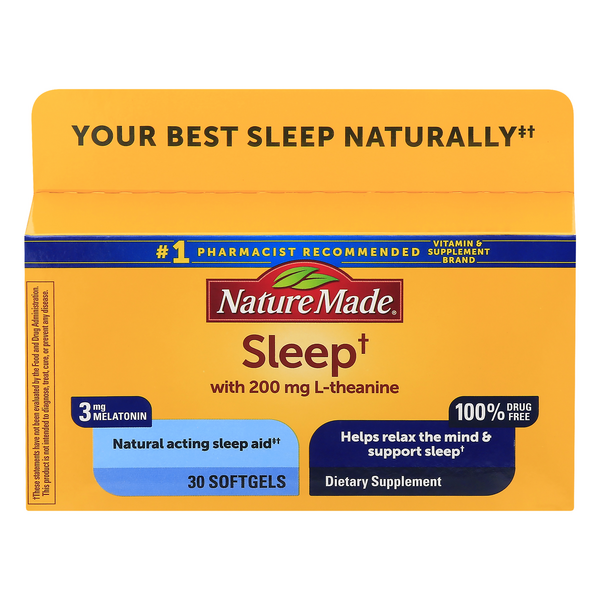 Nature Made Sleep Aid 100% Drug Free Dietary Supplement Softgels
