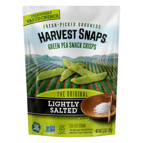 Harvest Snaps Green Pea Snack Crisps Lightly Salted Gluten Free