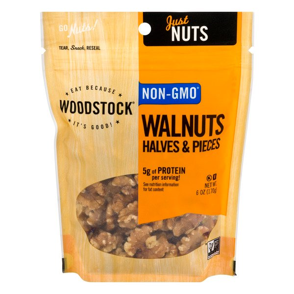 Woodstock Just Nuts Walnuts Halves & Pieces
