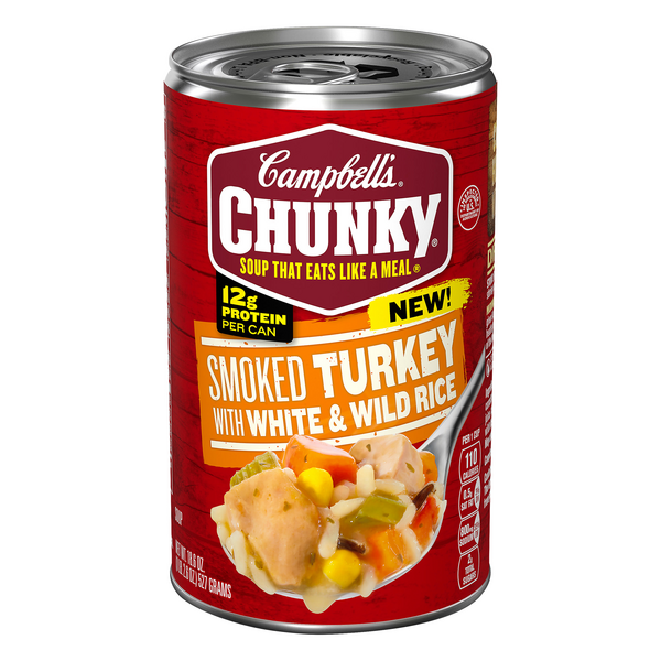 Campbell's Chunky Smoked Turkey with White & Wild Rice Soup