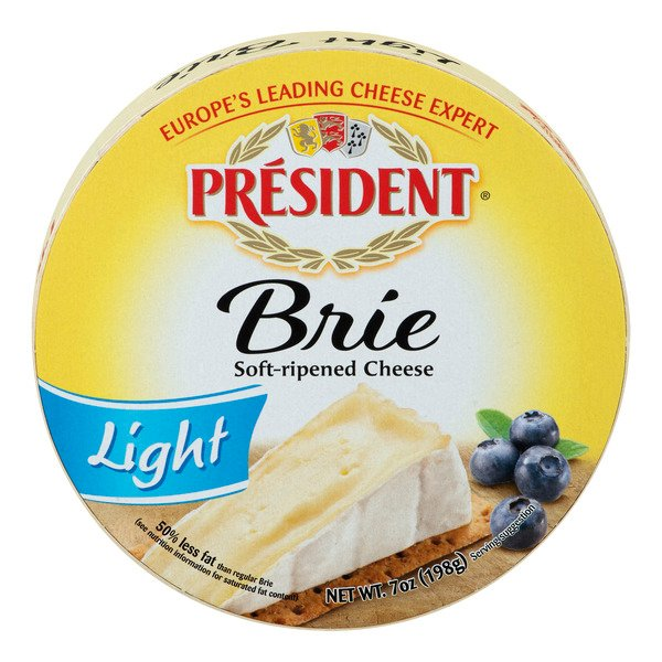 President Light Soft-Ripened Brie Cheese