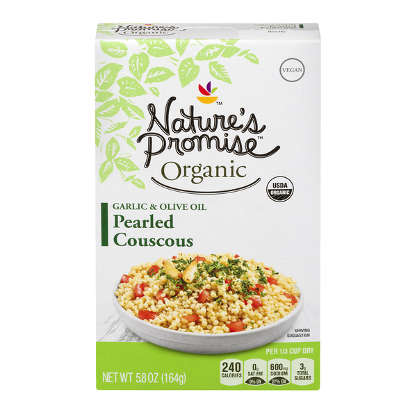 Nature's Promise Organic Pearled Couscous Garlic & Olive Oil
