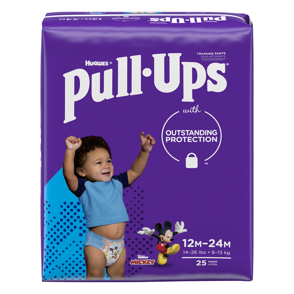Huggies Pull-Ups 12-14 Month Training Pants Boys Mickey Mouse 14-26 lbs