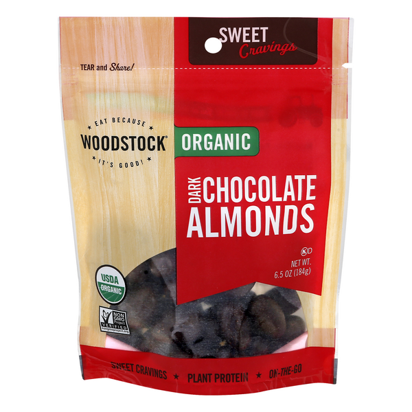 Woodstock Farms Dark Chocolate Covered Almonds Organic