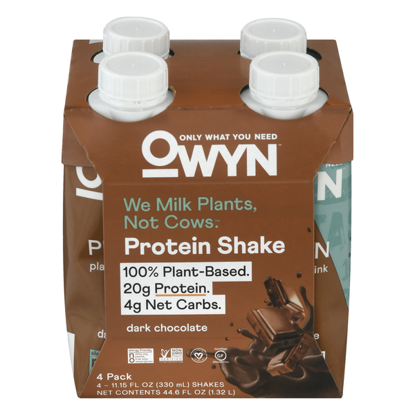 OWYN Plant-Based Protein Shake Dark Chocolate - 4 pk
