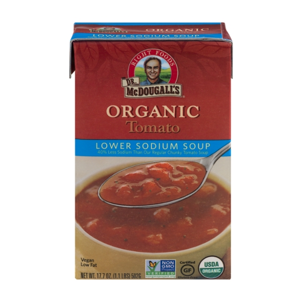 Dr. McDougall's Soup Tomato Lower Sodium Organic