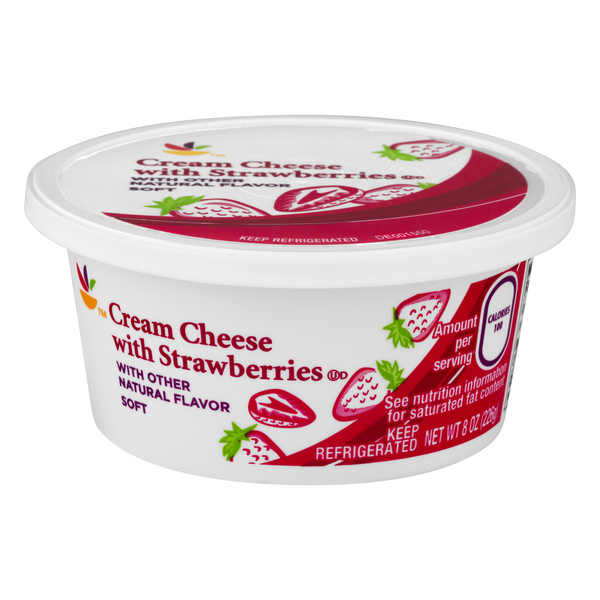 Giant Cream Cheese Spread with Strawberries Soft