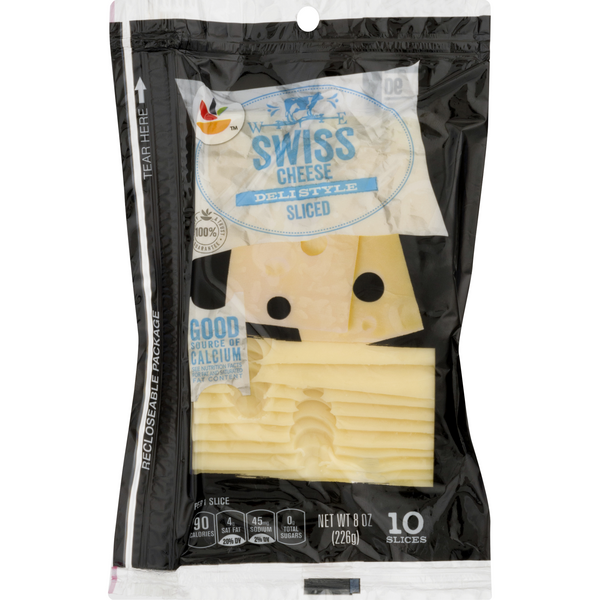 GIANT Swiss Cheese Sliced Natural - 10 ct