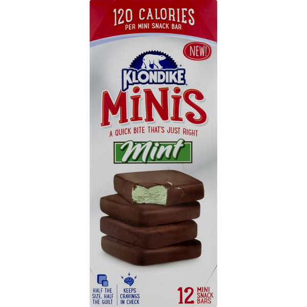 Klondike Minis Snack Bars Mint - 12 ct