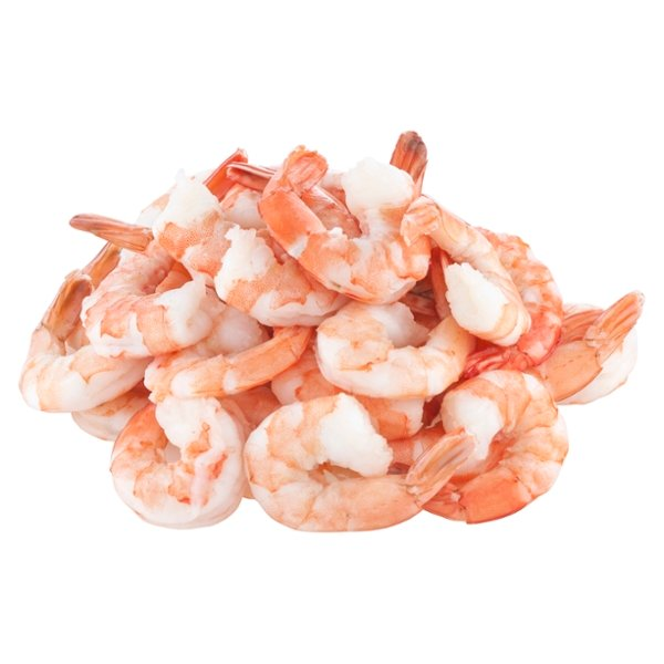 Cooked Shrimp Tail-On Large - 31-40 ct per lb Previously Frozen