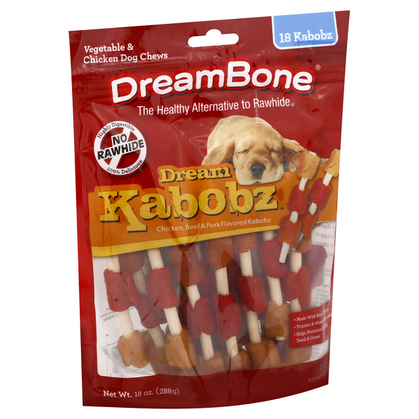 DreamBone Chews Dream Kabobz Vegetable & Chicken - 18 ct