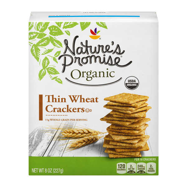 Nature's Promise Organic Thin Wheat Crackers