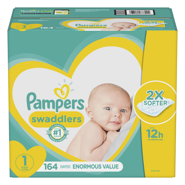 Pampers Swaddlers Size 1 Diapers 8-14 Ibs
