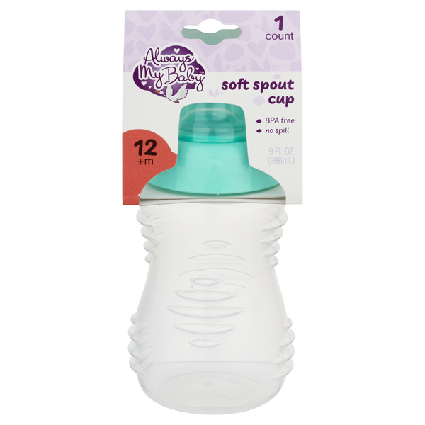 Always My Baby Soft Spout Cup Teal 12+m 9 oz