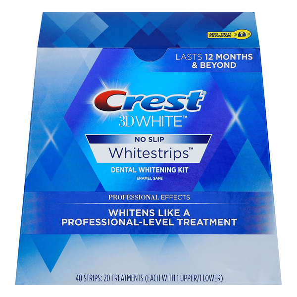 Crest 3D White Whitestrips Dental Whitening Kit No Slip