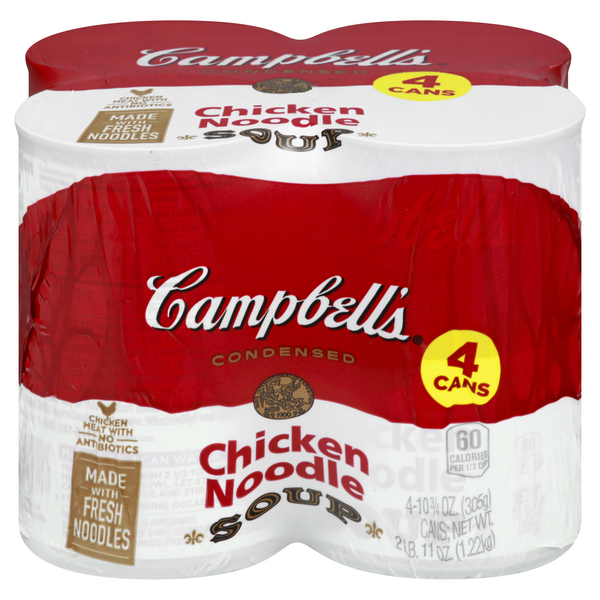 Campbell's Chicken Noodle Condensed Soup - 4 ct