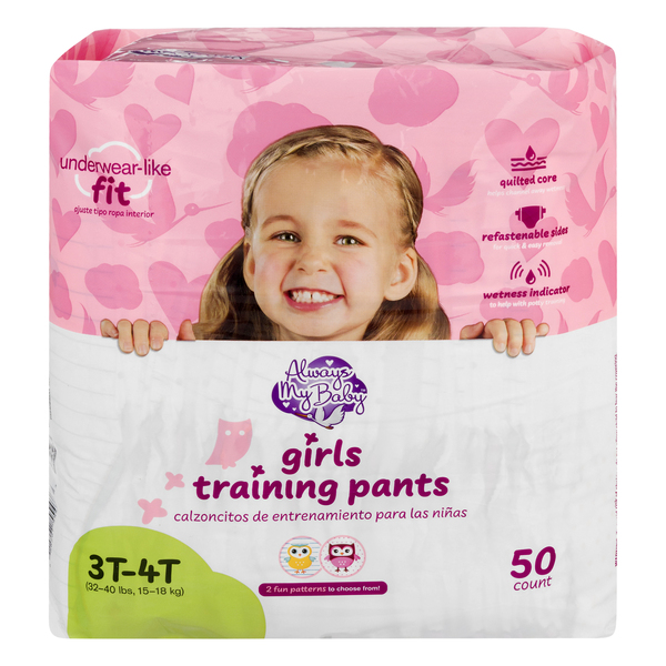 Always My Baby Girls 3T-4T Training Pants 32-20 lbs