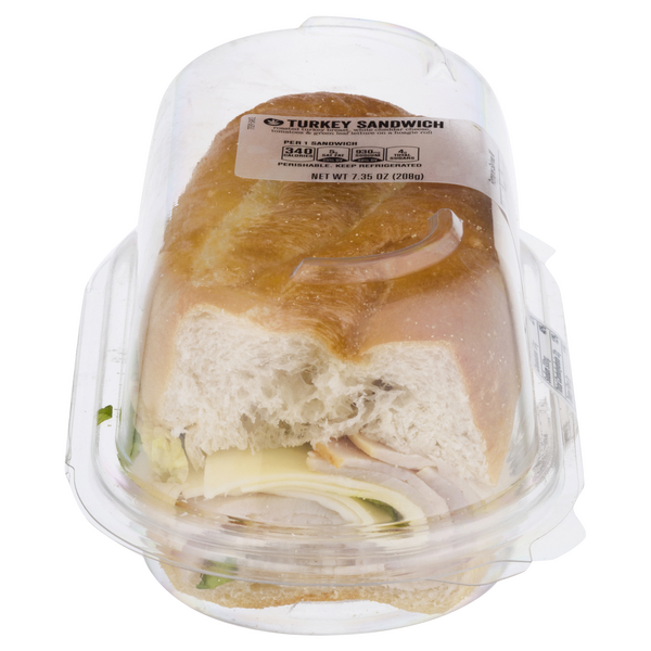 Stop & Shop Deli Sandwich Turkey & White Cheddar Cheese (Half)