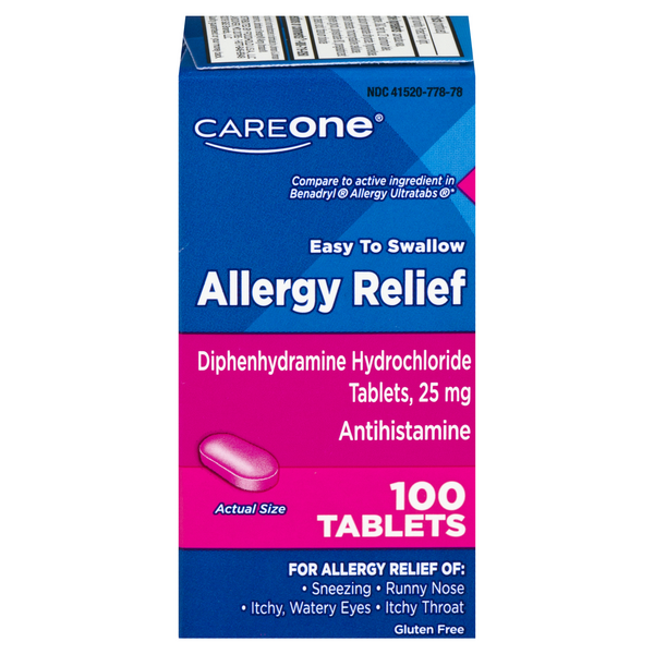 CareOne Allergy Relief Tablets Gluten Free