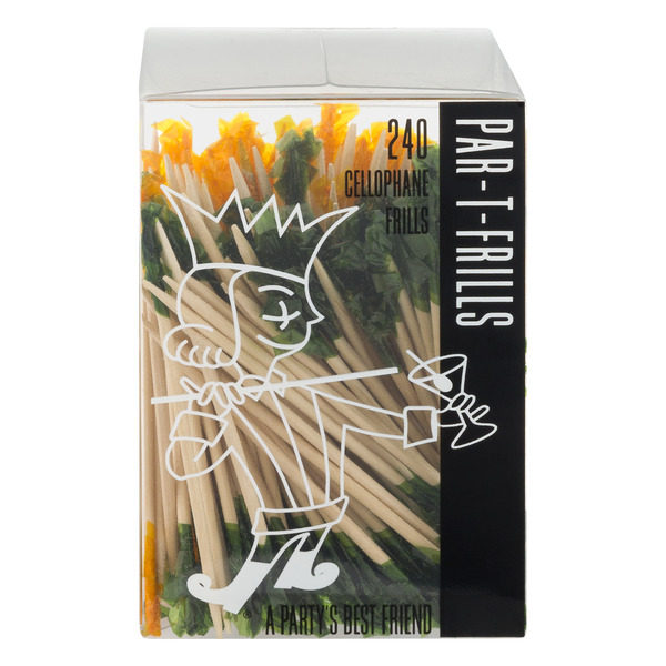 Par-T-Frills Toothpicks Wood with Cellophane Frills