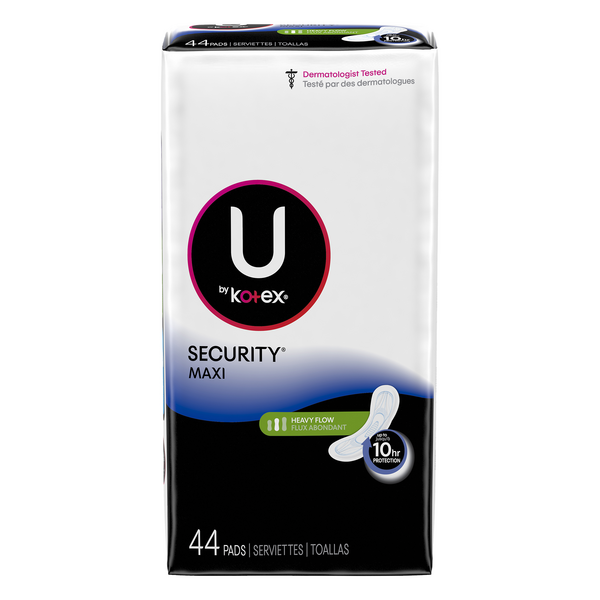U By Kotex Long Super Security Maxi Pads