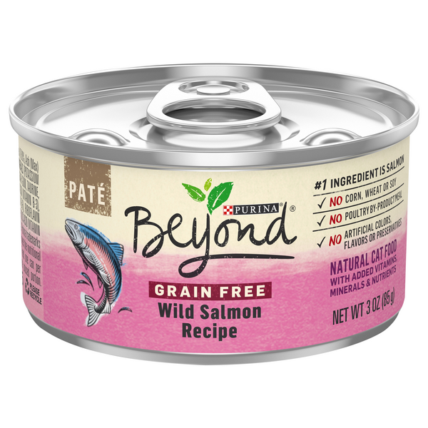 Beyond Wet Cat Food Pate Wild Salmon Recipe Grain Free Natural