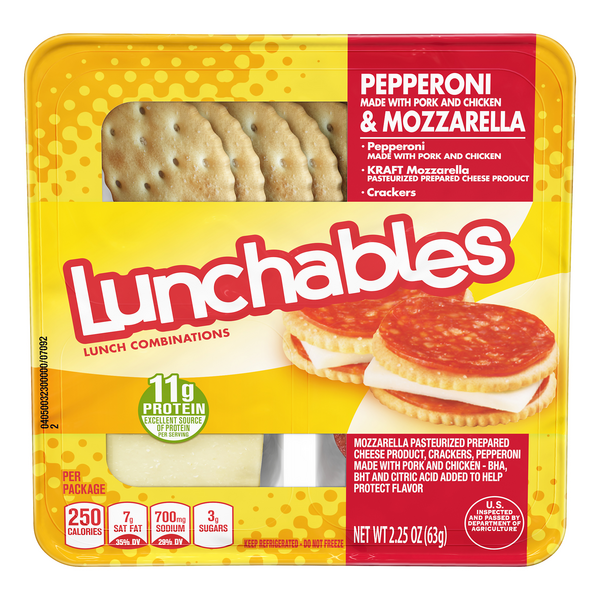 Lunchables Lunch Combinations Pepperoni & Mozzarella With Crackers