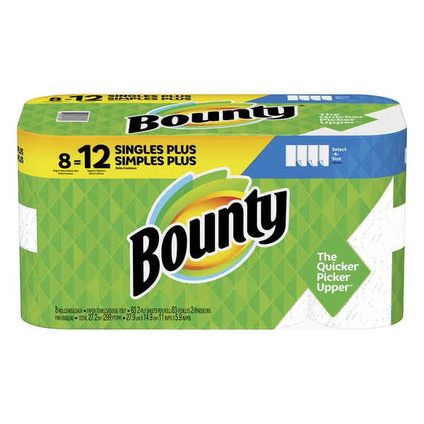 Bounty Select-A-Size Paper Towels Giant Roll 2-Ply White