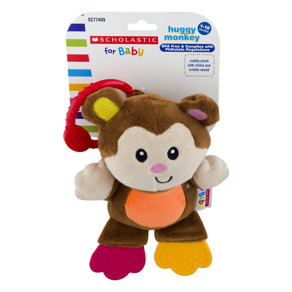 Scholastic For Baby Huggy Monkey 1-18 Months