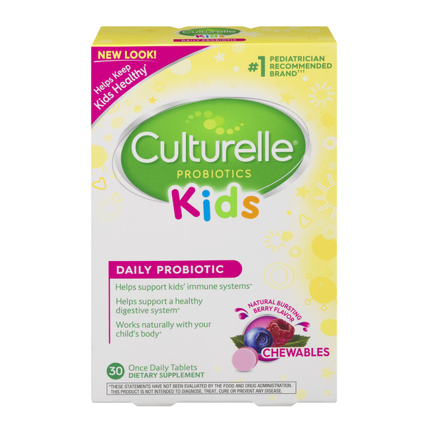 Culturelle Kids Probiotic Supplement Bursting Berry Flavor Chewables