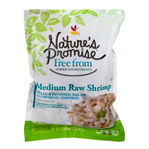 Nature's Promise Raw Shrimp Tail-On Peeled & Deveined Medium Frozen