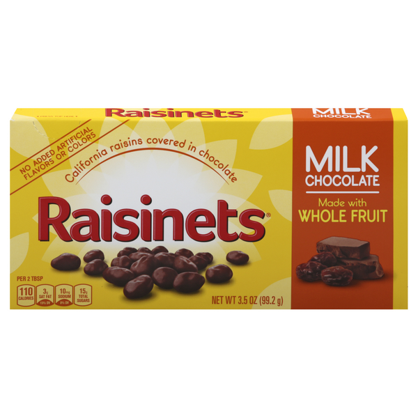 Raisinets California Raisins Milk Chocolate Covered