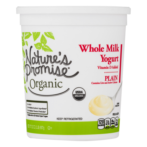 Nature's Promise Organic Yogurt Whole Milk Plain