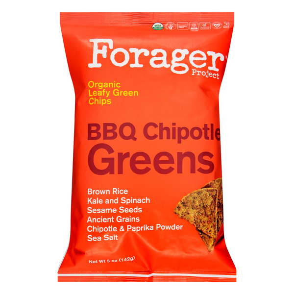 Forager Project Leafy Green Chips BBQ Chipotle Greens Organic Gluten Free