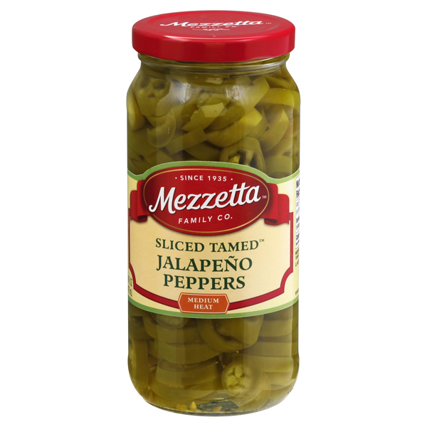 Mezzetta Jalapeno Peppers Tamed Sliced