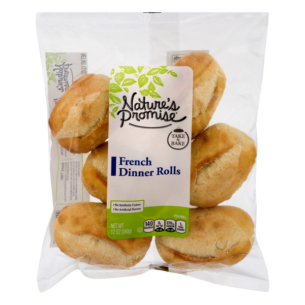 Nature's Promise Free from French Take & Bake Dinner Rolls Fat Free - 6 ct