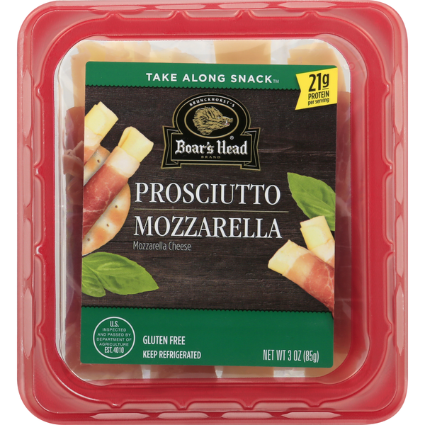 Boar's Head Take Along Snack Prosciutto & Mozzarella Cheese Gluten Free