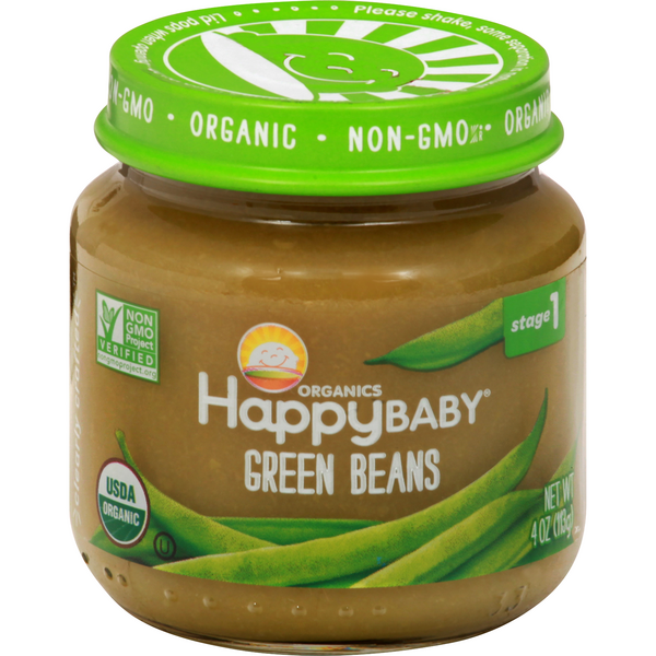 HappyBaby Organics Stage 1 Baby Food Green Beans