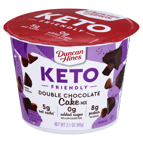 Duncan Hines Keto Friendly Double Chocolate Cake Mix Microwavable