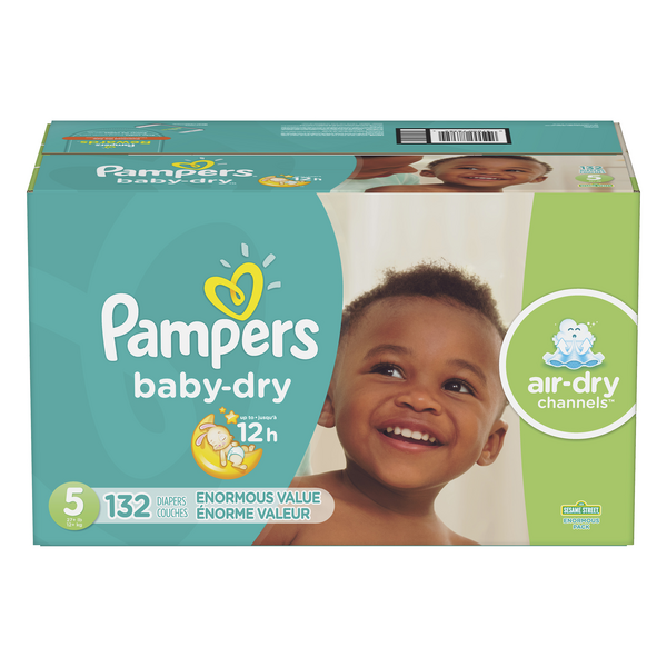 Pampers Baby Dry Size 5 Diapers 27+ lbs