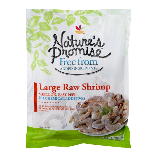 Nature's Promise Free from Raw Shrimp Shell-On 31- 40 ct per lb Frozen