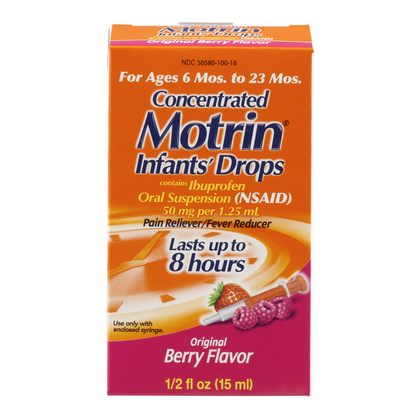 Motrin Concentrated Infants' Drops For Ages 6 Mos. to 23 Mos. Original B