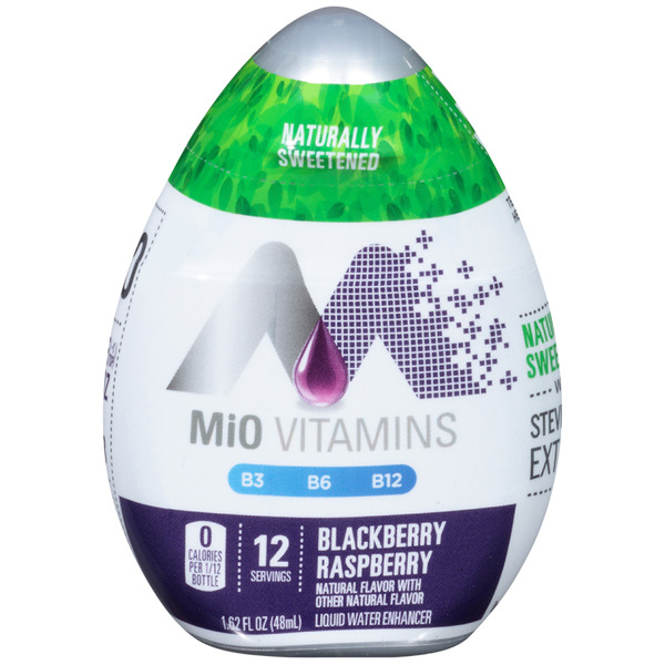 MiO Vitamins Liquid Water Enhancer Blackberry Raspberry - 12 Servings