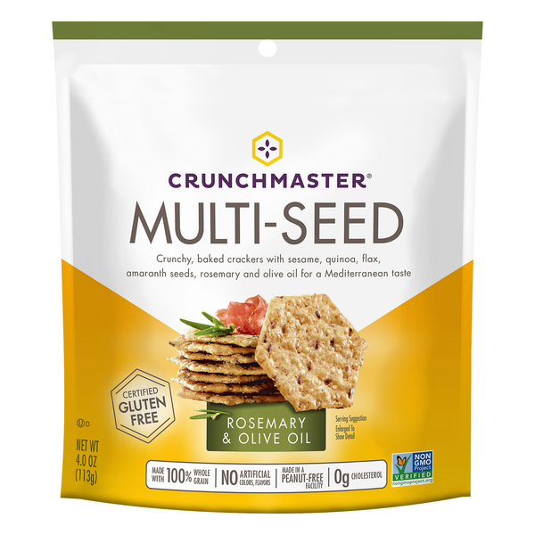 Crunchmaster Multi-Seed Crunchy Oven Baked Crackers Rosemary & Olive Oil