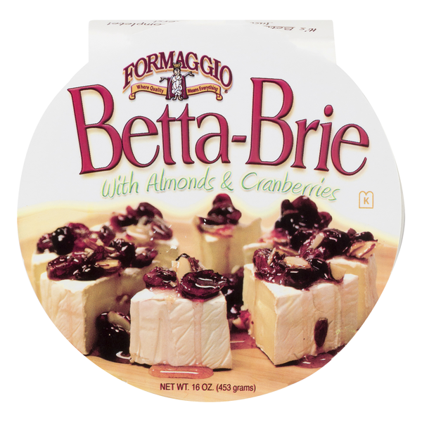 Formaggio Cheese Betta-Brie with Almonds & Cranberries